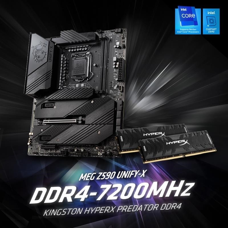 Kingston HyperX and MSI Set Another New DDR4 Overclocking  World Recordat 7200MHz