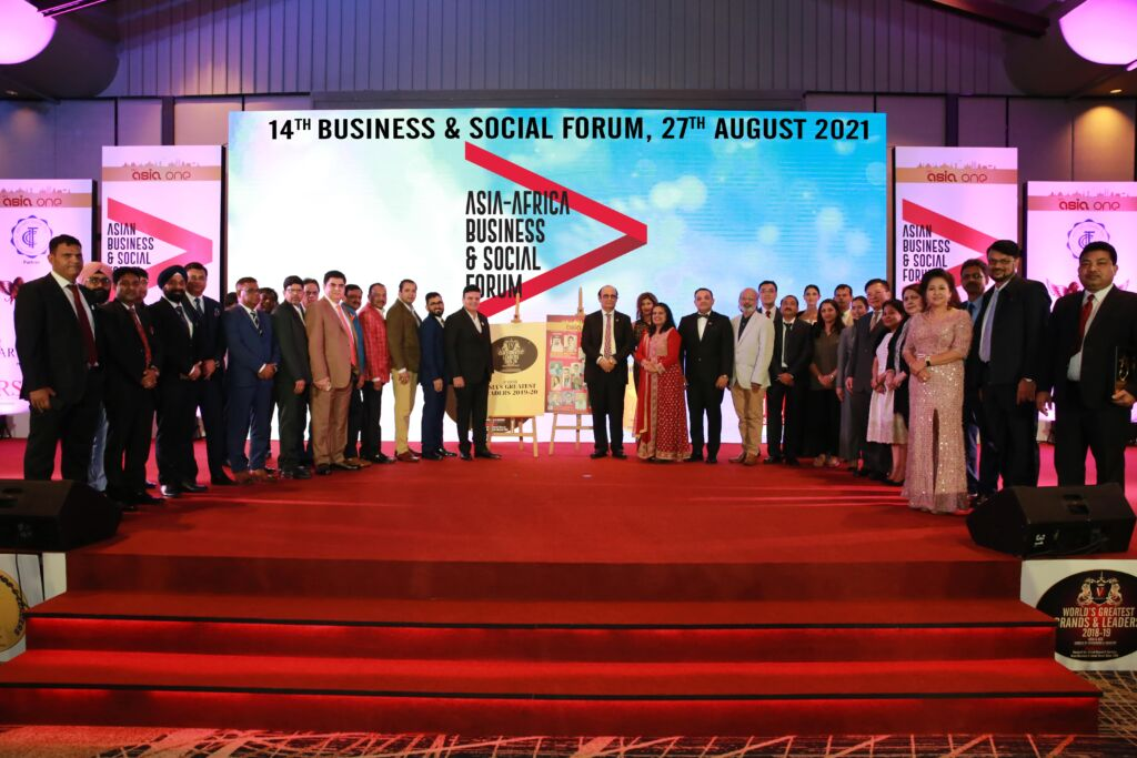 The 14th Asia-Africa Business and Social Forum: Awards & Business E-Summit and Greatest Brands and Leaders 2020-21– Asia, Middle East and Africa